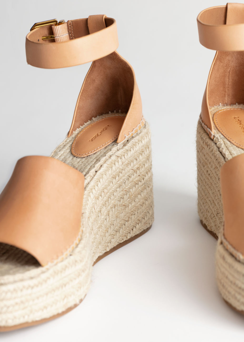 Back image of Stories espadrille sandal wedges in orange