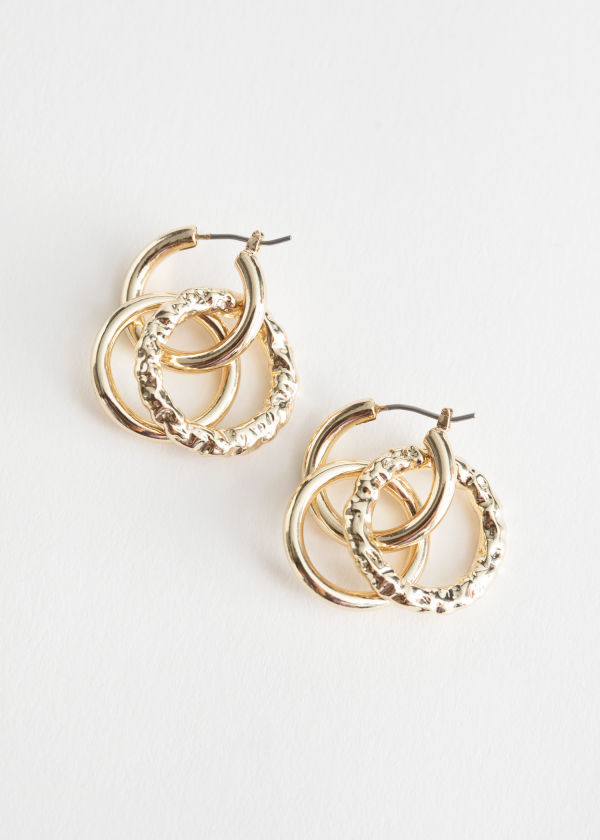 Dangling Trio Hoop Earrings