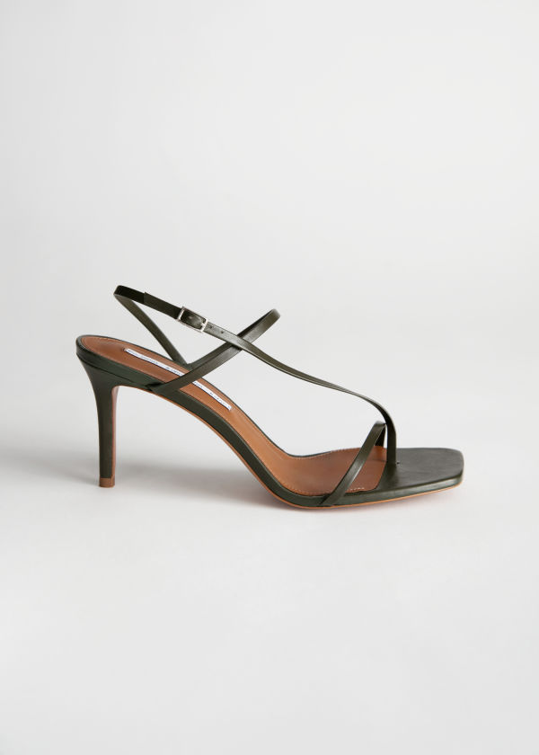 Cross Strap Stiletto Sandals
