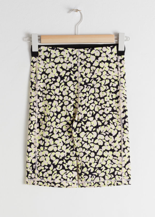 Fitted Floral Cycling Shorts