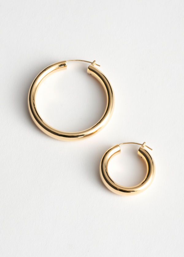 Mismatch Hoop Earrings