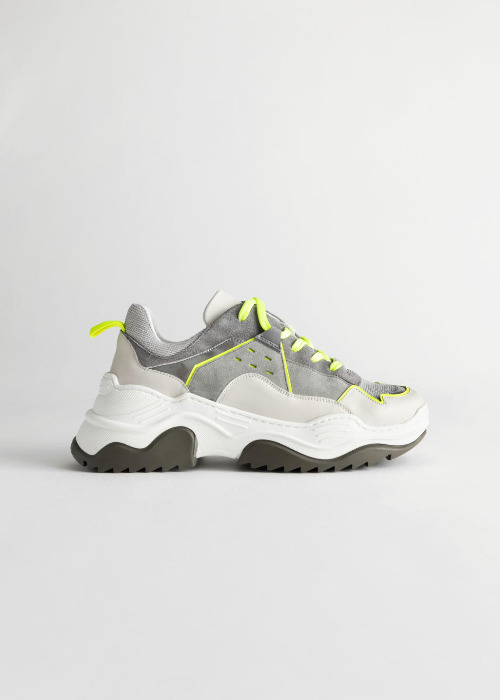 StillLife Front Image of Stories Technical Platform Sole Sneakers in Green