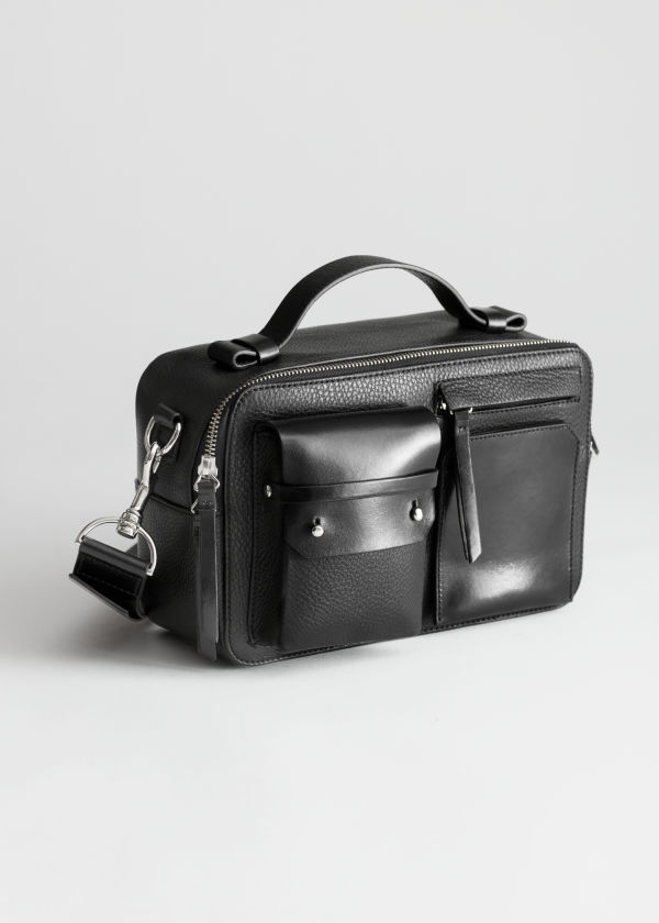 Leather Utility Crossbody Bag