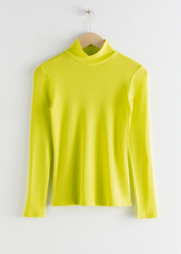 Fitted Long Sleeve Turtleneck