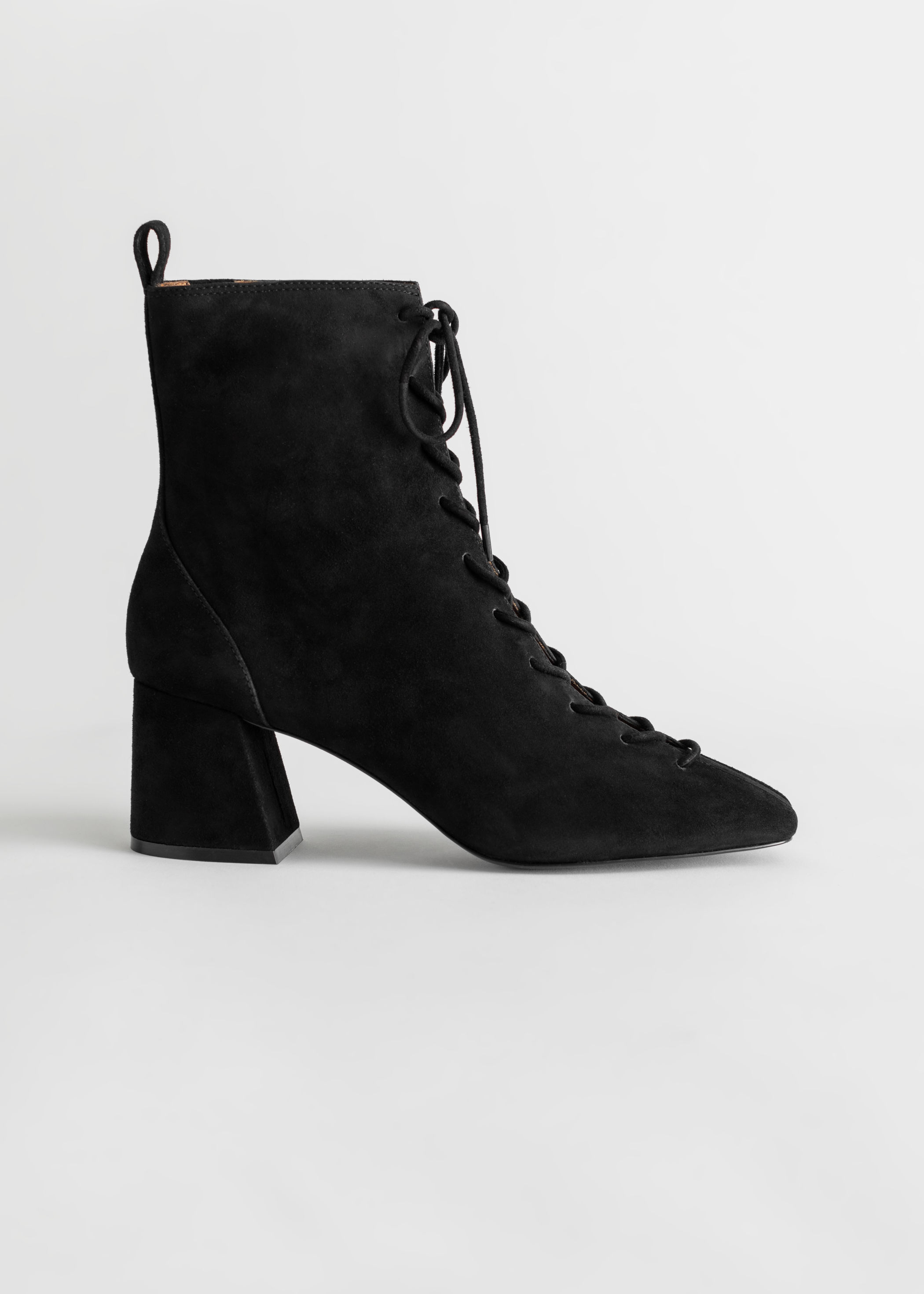 Suede Lace Up Anke Boots by & Other Stories