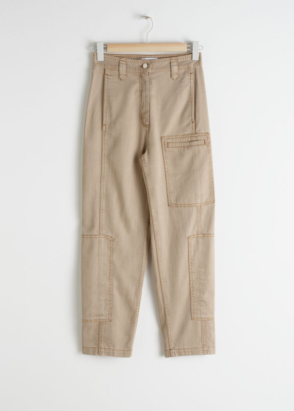 Cotton Blend Workwear Pants