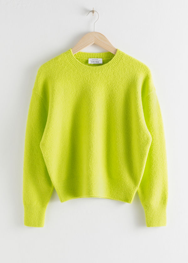 Textured Knit Relaxed Sweater
