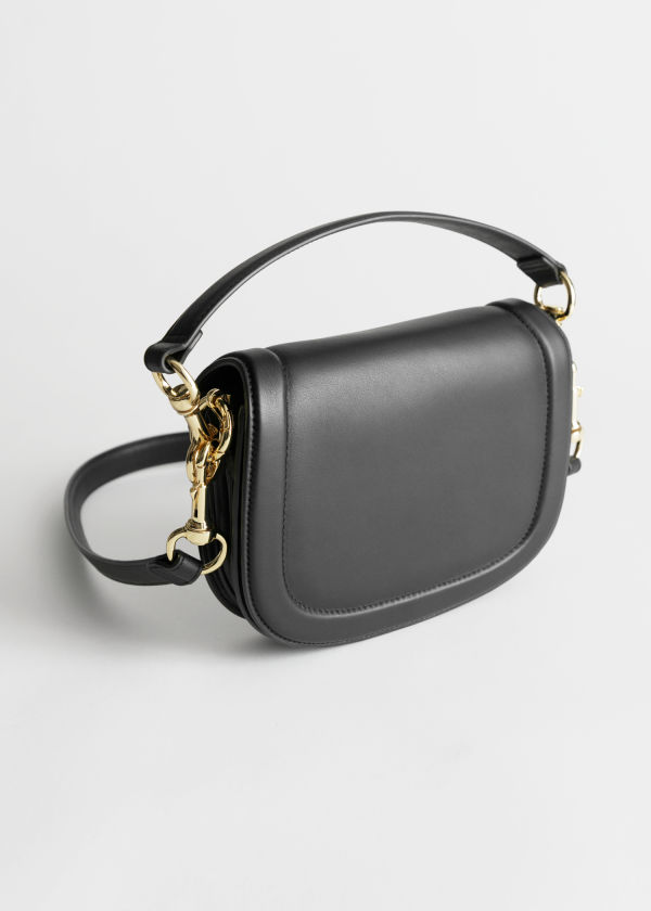 Duo Strap Leather Saddle Bag