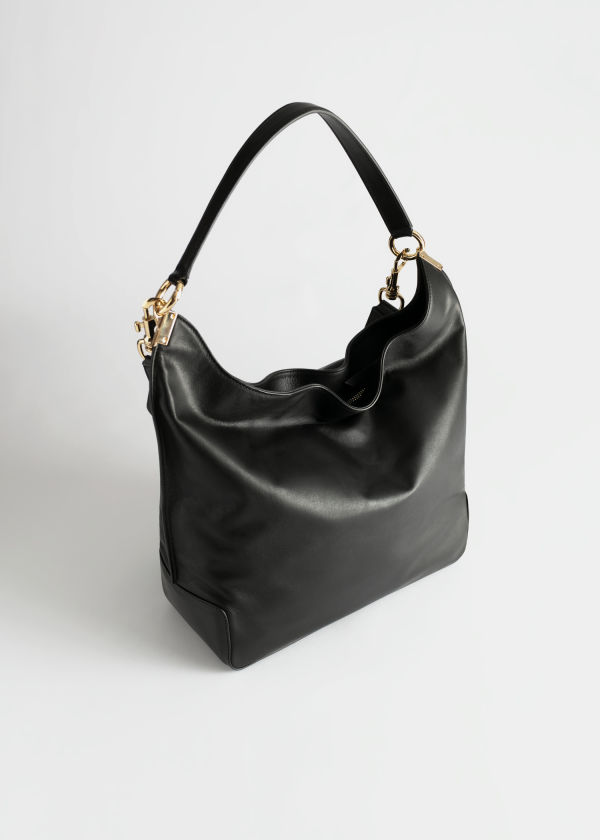 Slouchy Duo Strap Leather Bag