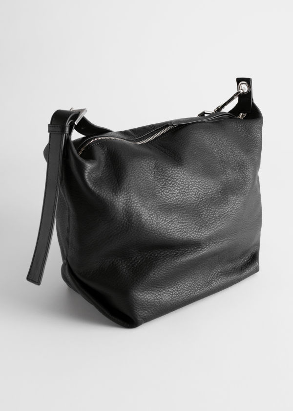 Grained Leather Duffle Bag