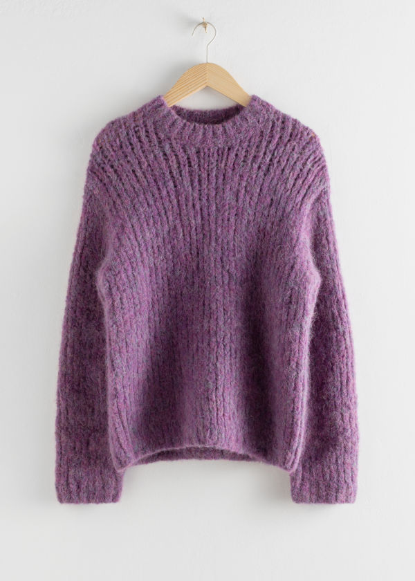 Chunky Alpaca Blend Knitted Sweater