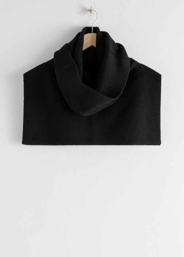 Ribbed Turtleneck Wool Blend Snood