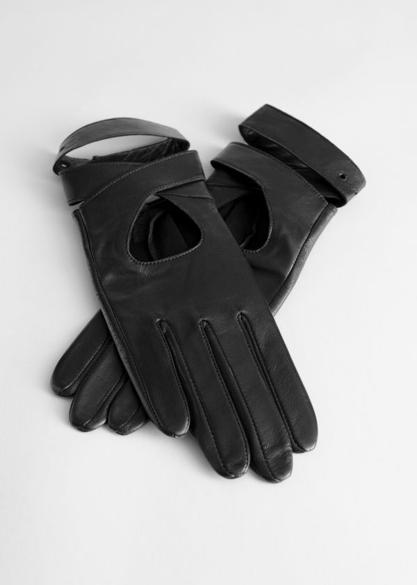 Leather Criss Cross Gloves