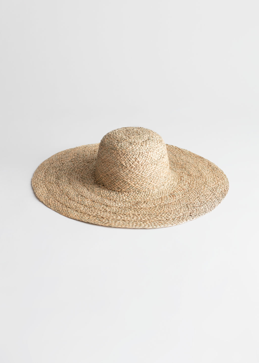 StillLife Front Image of Stories Woven Straw Sunhat in Beige