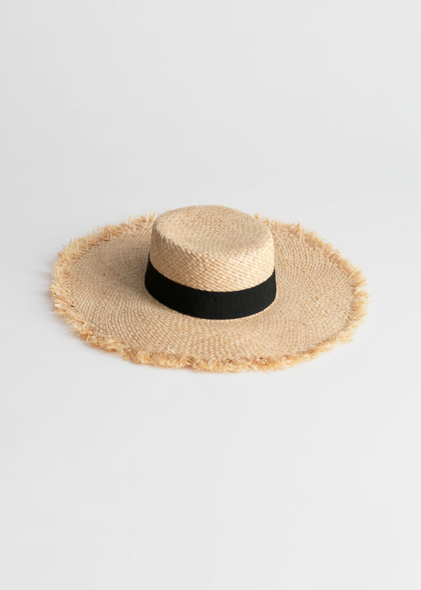 Flat Top Woven Straw Hat
