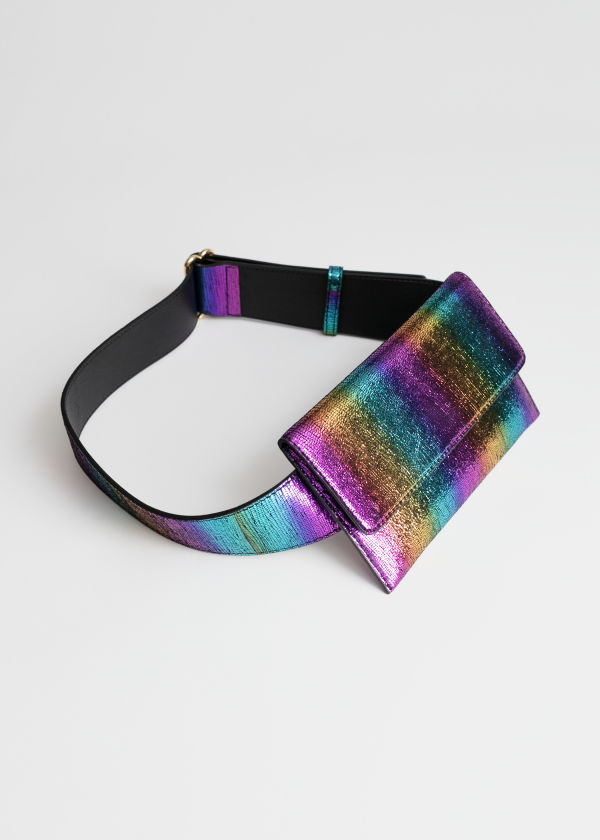 Rainbow Leather Belt Bag