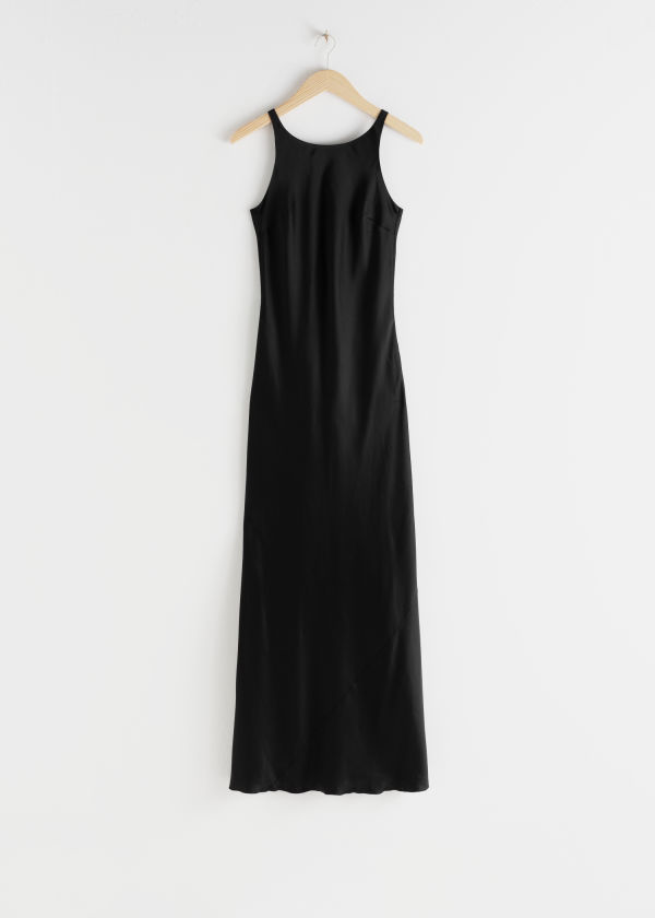 Fitted Scoop Back Maxi Dress
