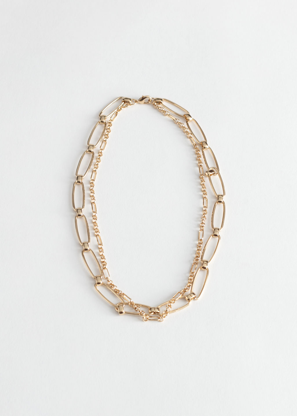 StillLife Front Image of Stories Duo Chunky Chain Necklace in Gold