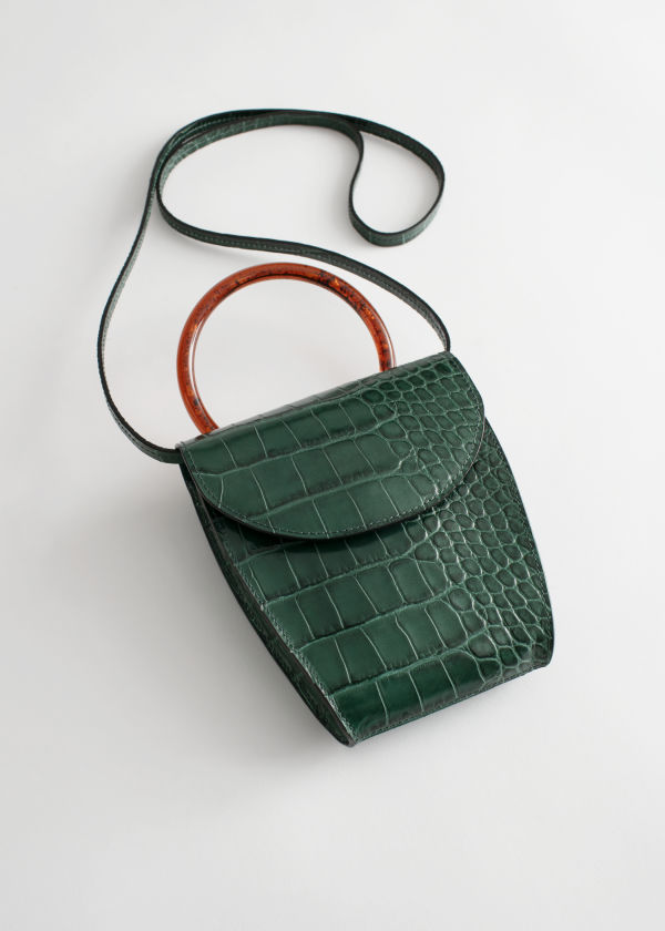 Resin Handle Mini Croc Bag