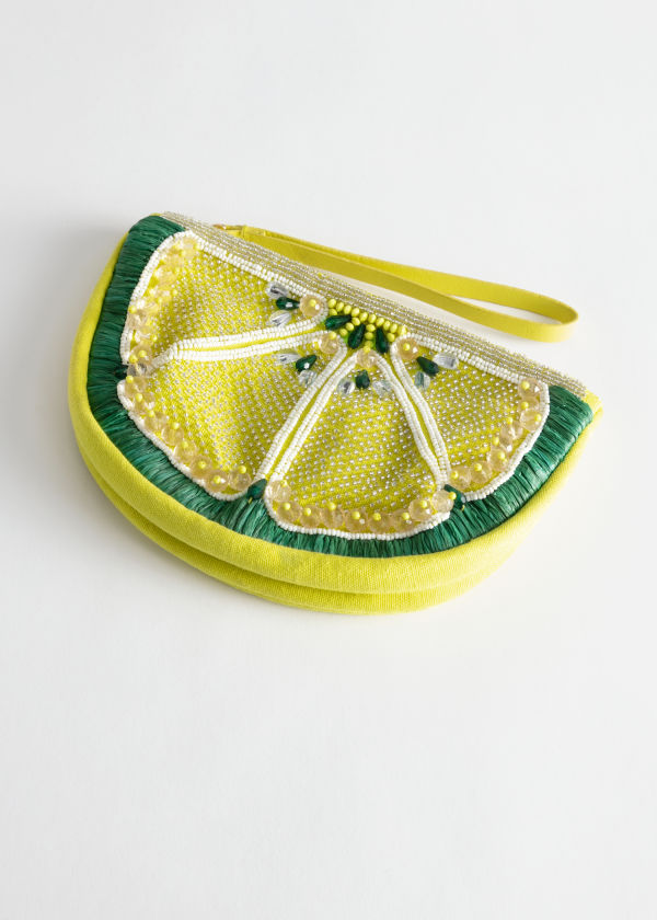 Beaded Lemon Clutch