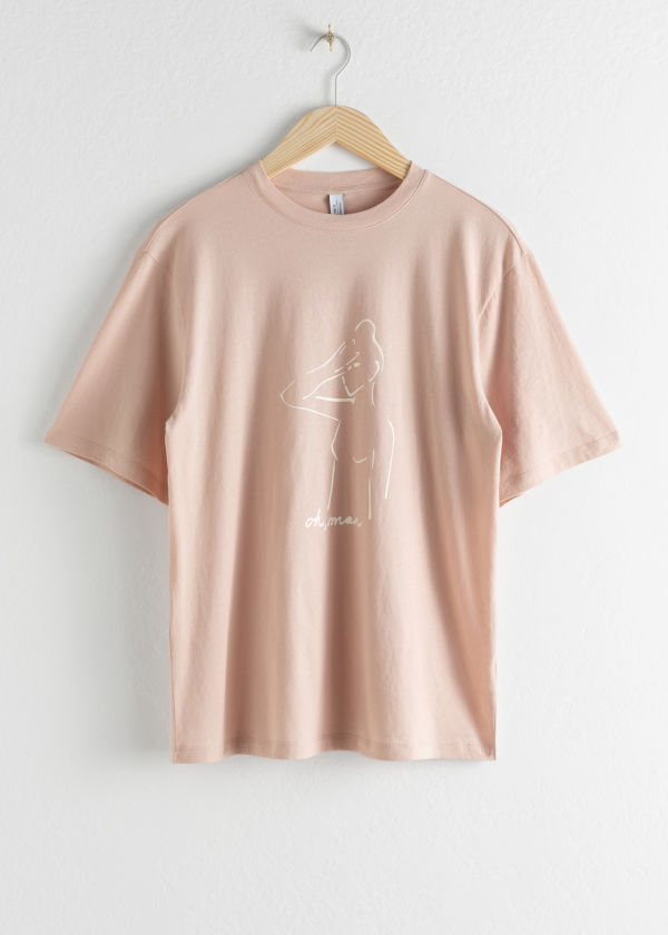 Oversized Oh Man Graphic Tee