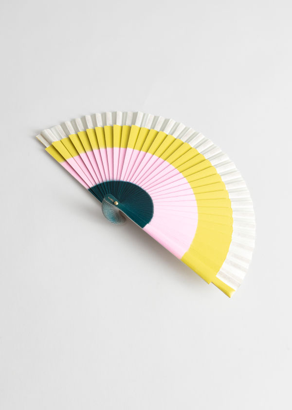 Wooden Striped Fan
