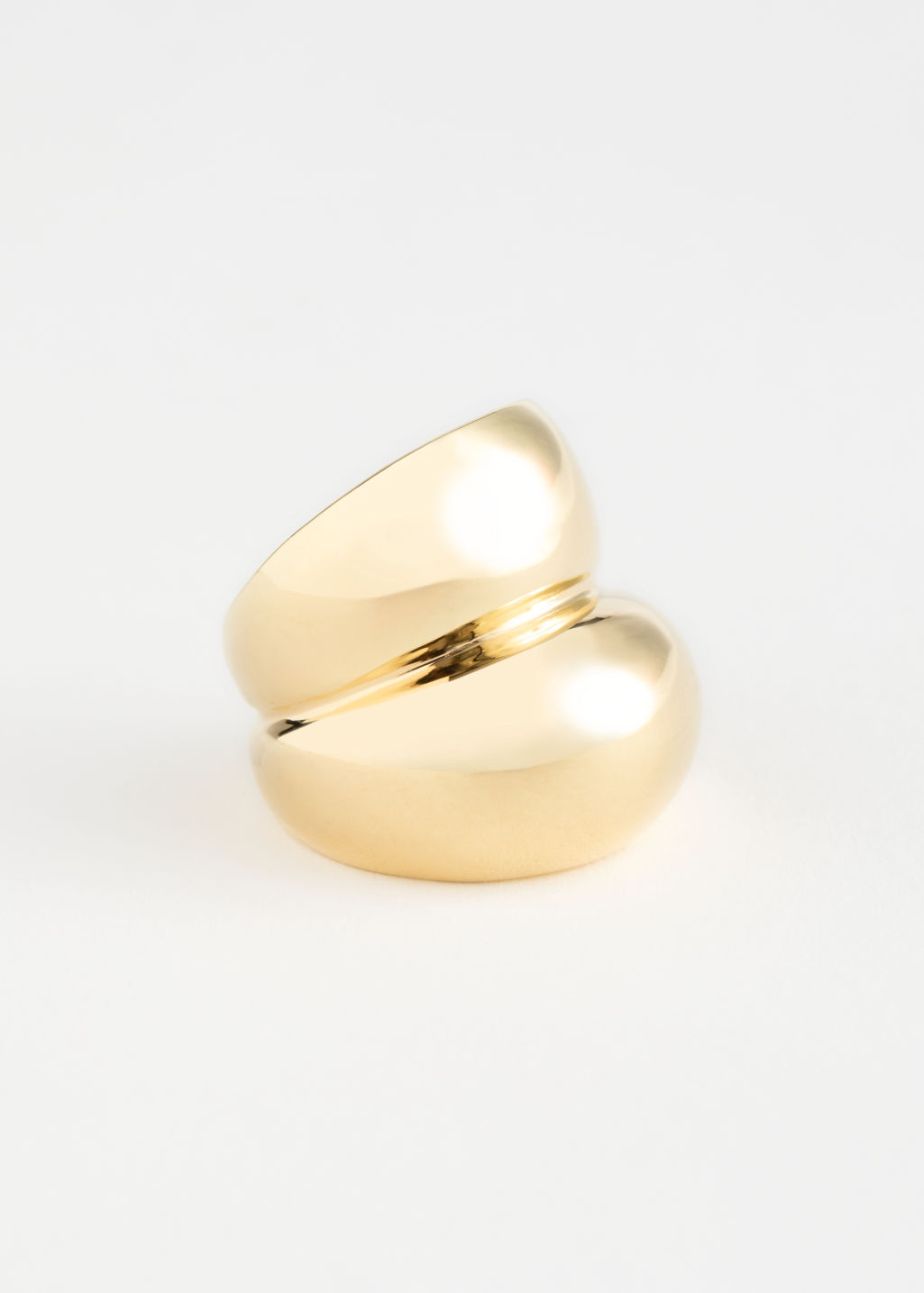 StillLife Front Image of Stories Duo Sphere Chunky Ring in Gold