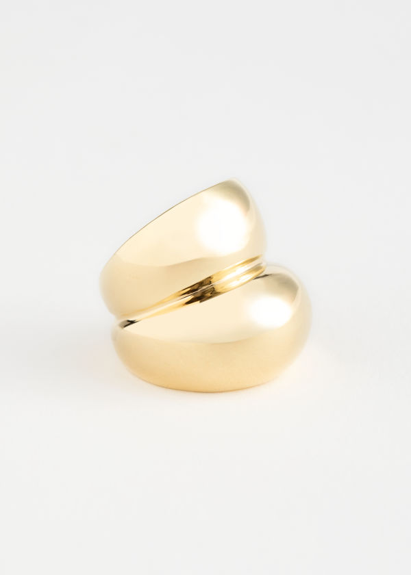 Duo Sphere Chunky Ring