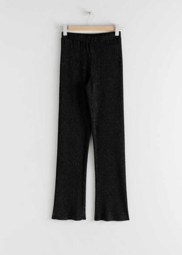Plissé Pleated Fitted Trousers