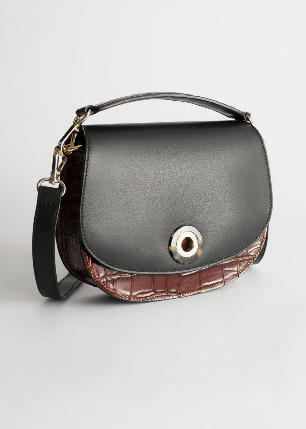 Tortoise Eyelet Croc Small Bag