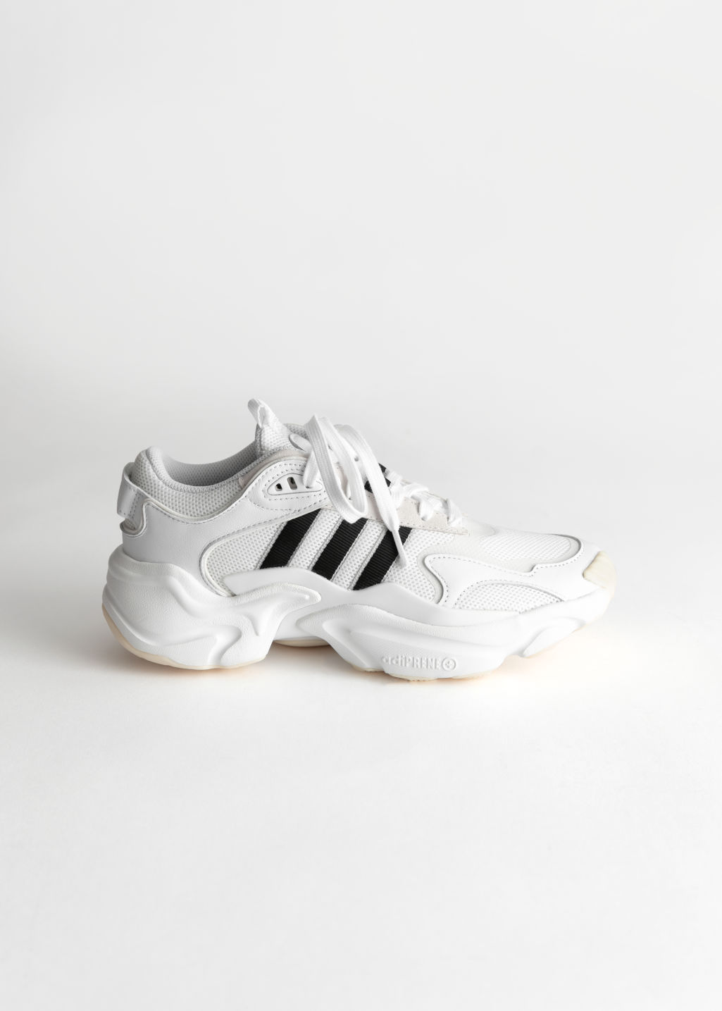 Front image of Stories adidas magmur in white