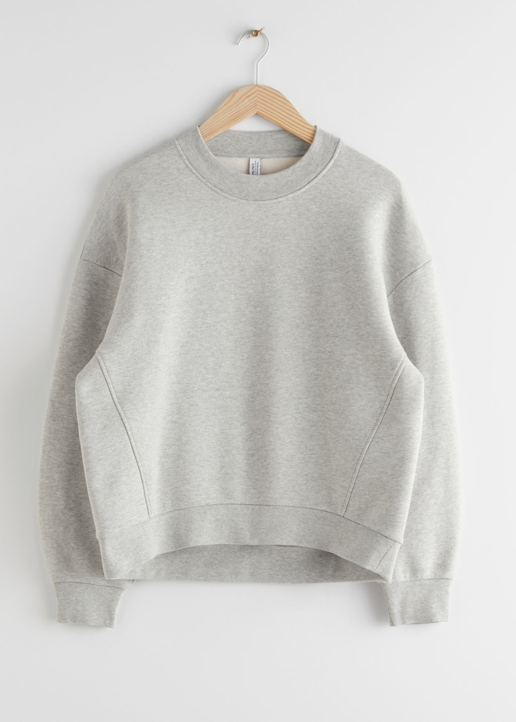 StillLife Front Image of Stories Organic Cotton Mock Neck Sweater in Grey