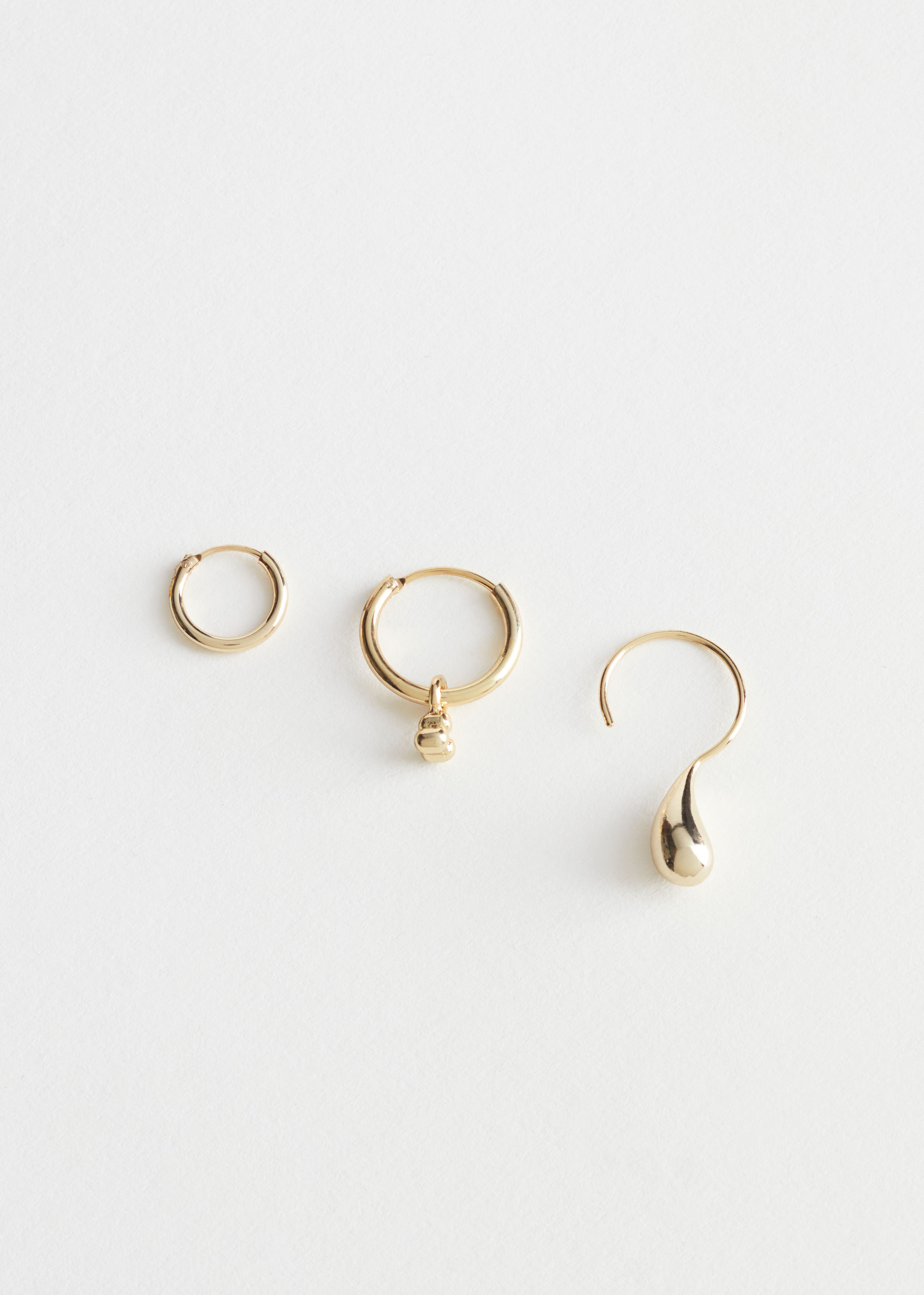Mismatch Hoop Earrings Trio Set by & Other Stories