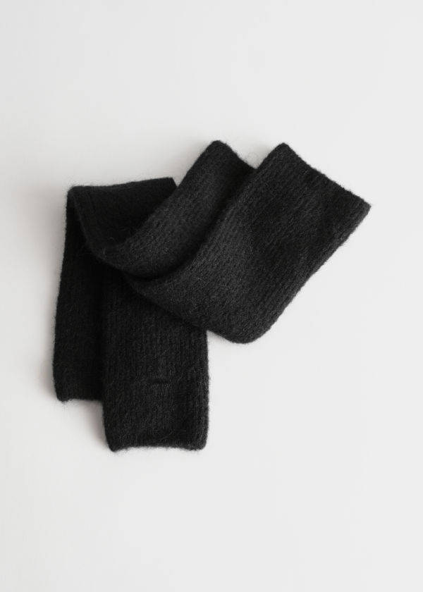 Long Fingerless Wool Blend Gloves