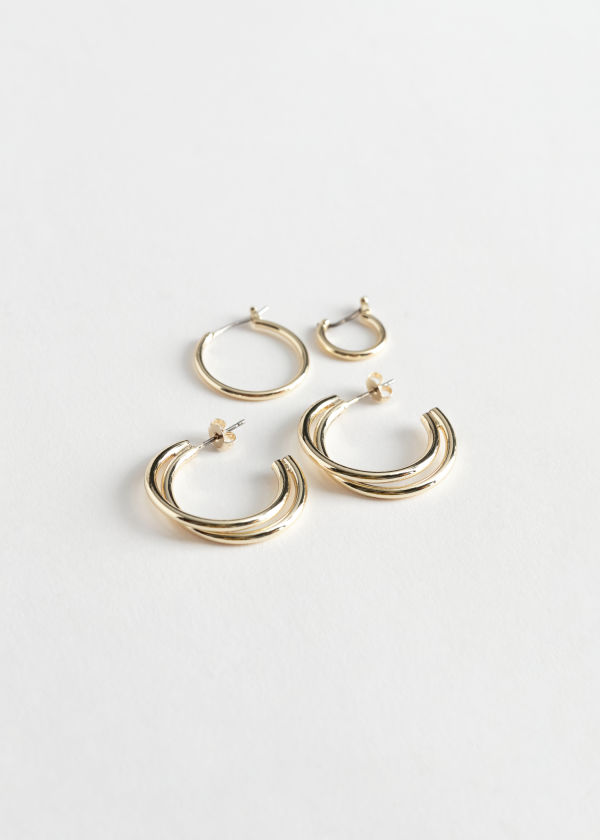 Multi Hoop Earrings Set