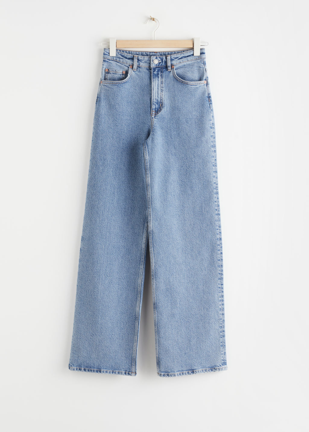 Front image of Stories relaxed high rise jeans in blue