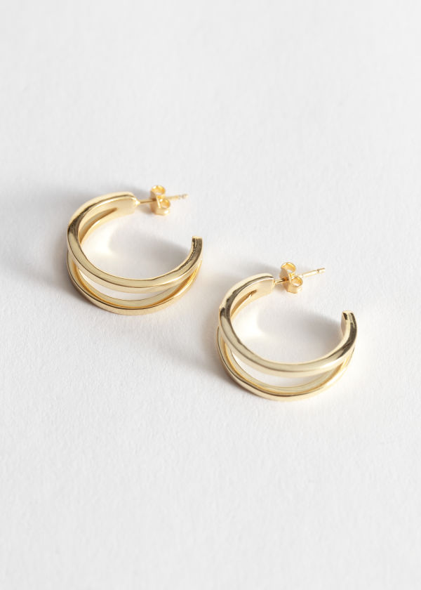 Open-Frame Hoop Earrings