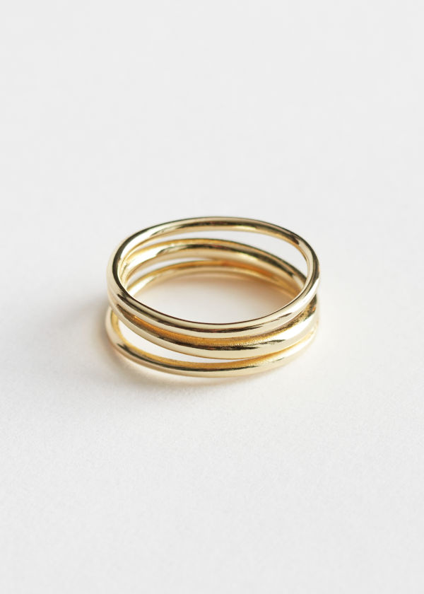 Layered Open Frame Ring