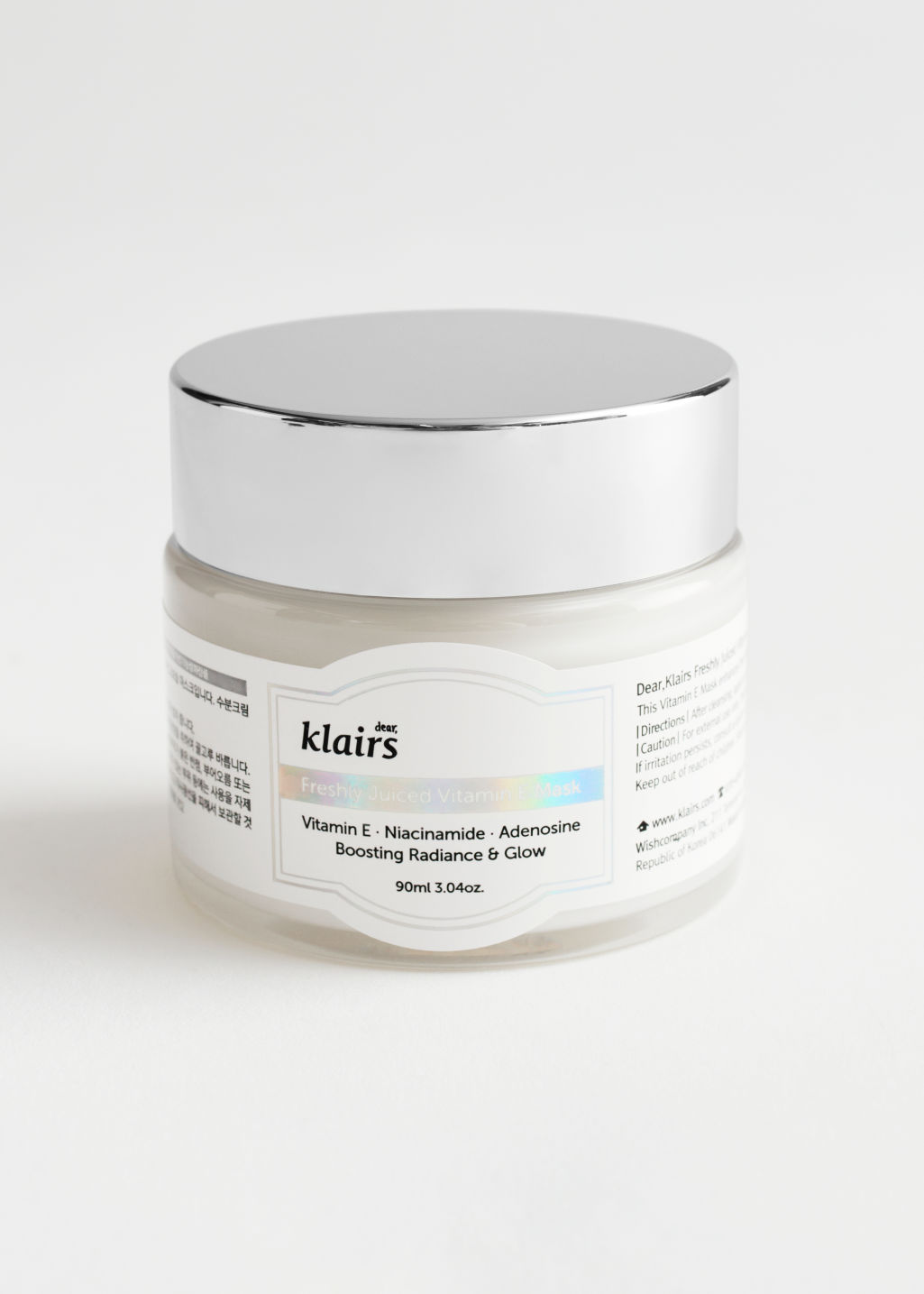StillLife Front Image of Stories Klairs Freshly Juiced Vitamin E Mask in White