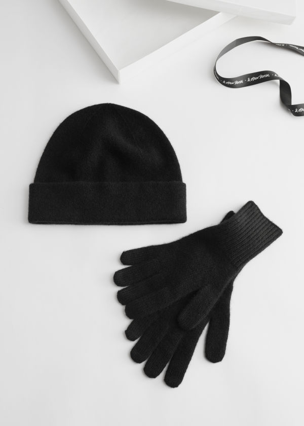 Cashmere Beanie And Gloves Gift Box