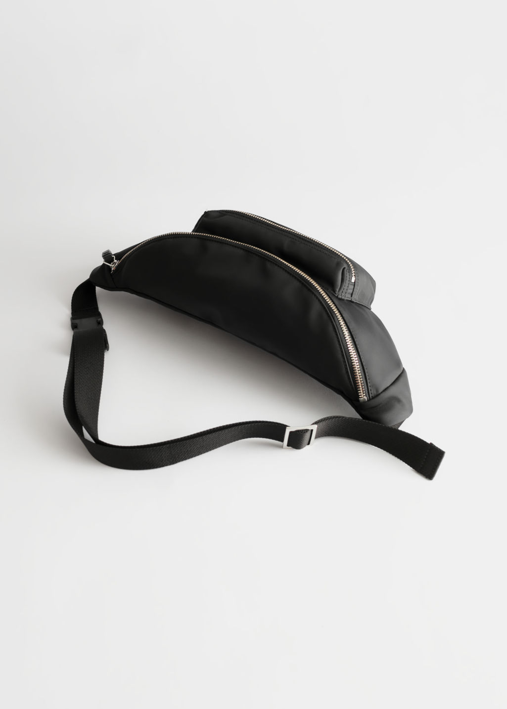 Back image of Stories large nylon beltbag in black