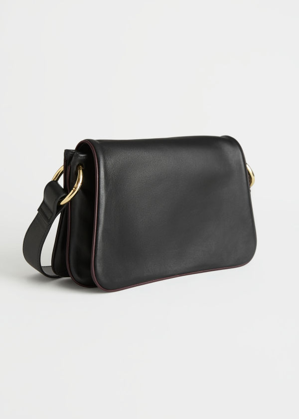 Leather Crossbody Baguette Bag