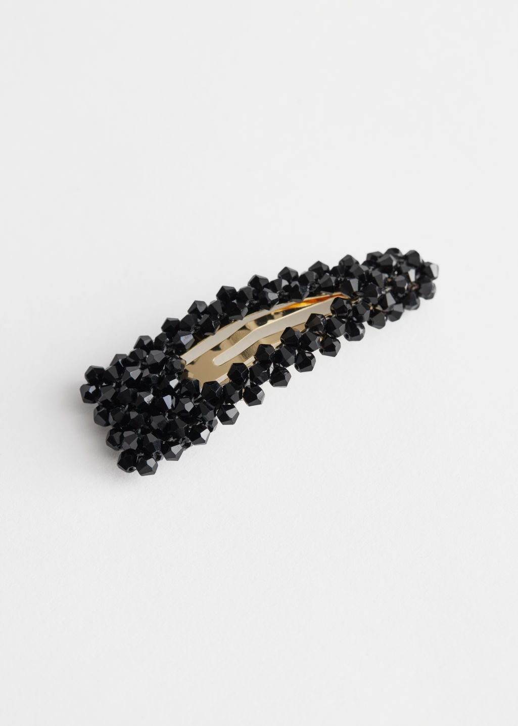 StillLife Front Image of Stories Crystal Clustered Hair Clip in Black