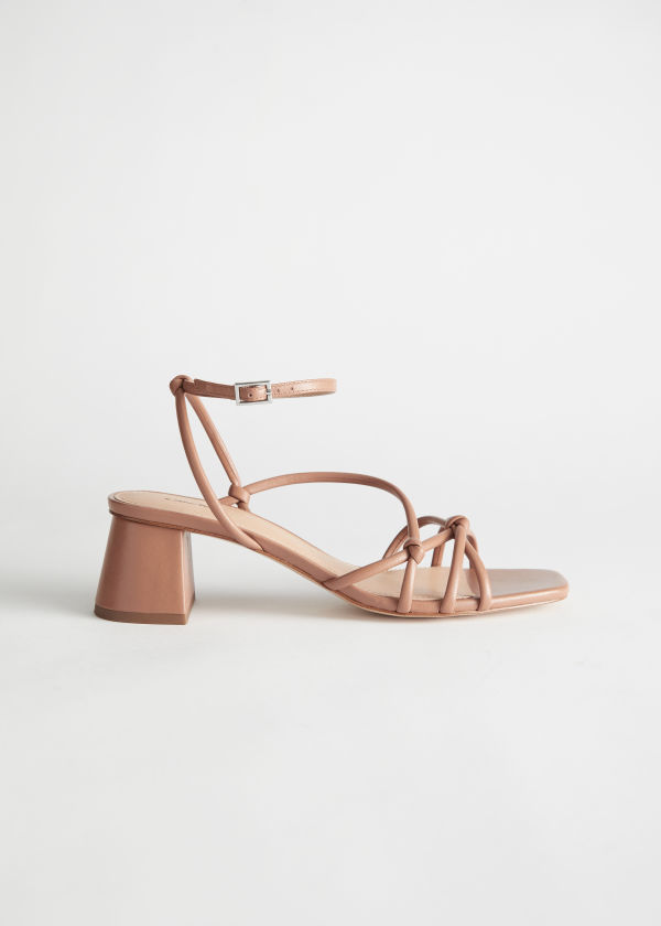 Strappy Leather Heeled Sandals