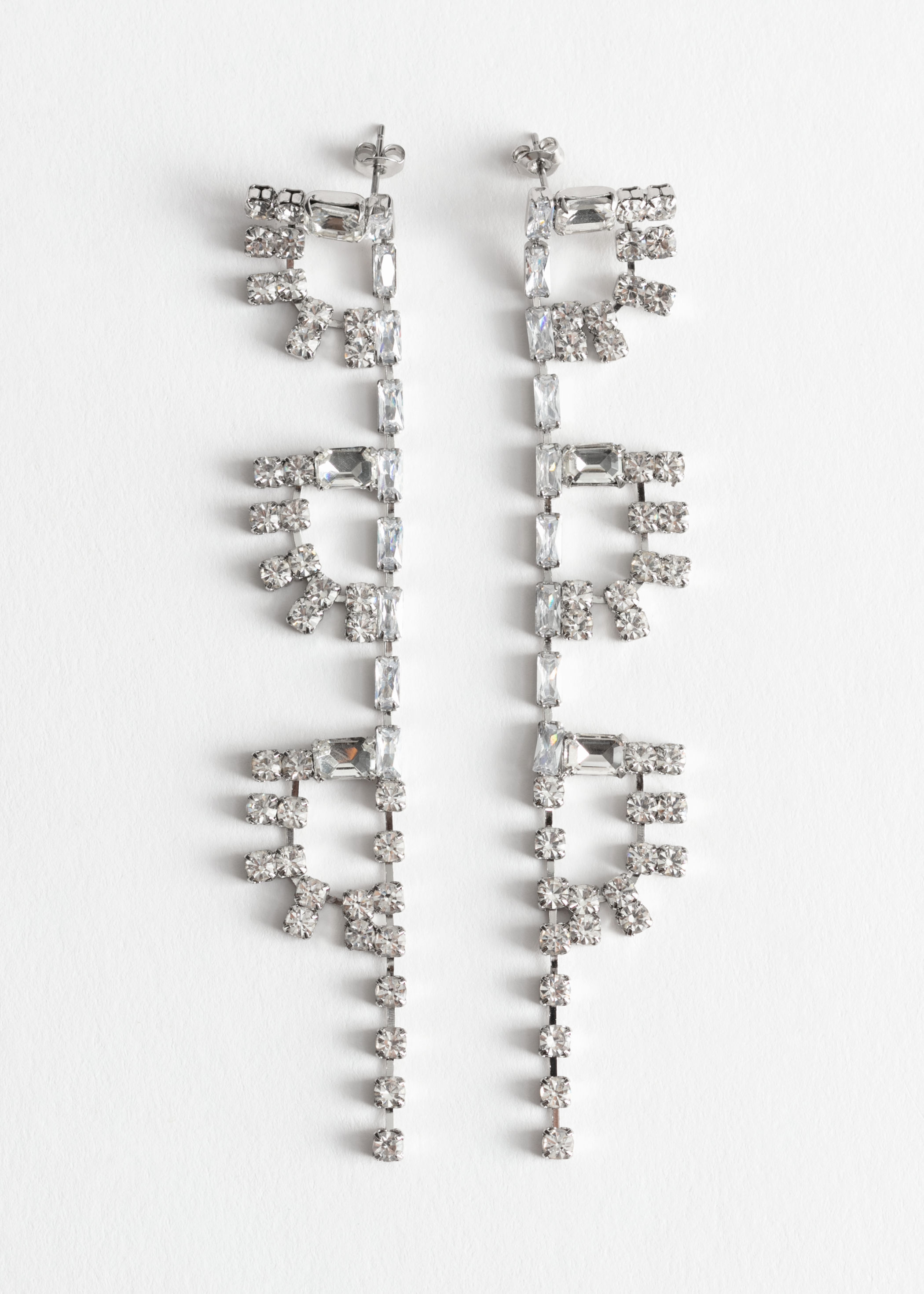 Rhinestone Half Sun Dangling Earrings by & Other Stories