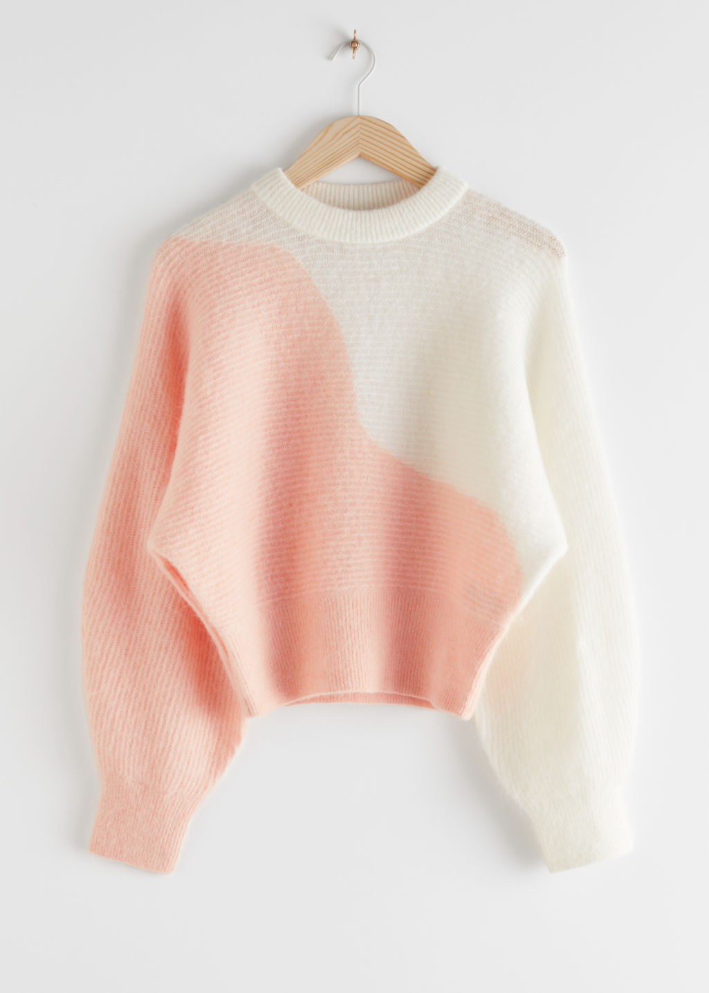 StillLife Front Image of Stories Colour Block Wave Sweater in Orange