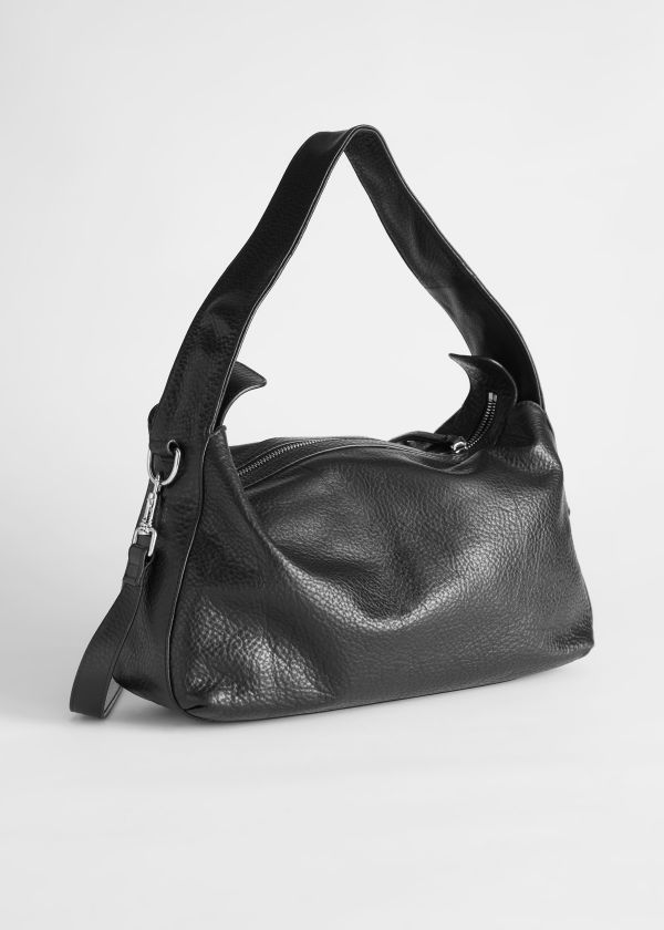 Slouchy Grained Leather Bag
