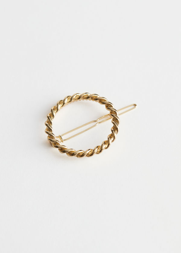 Rope Chain Circle Hair Clip