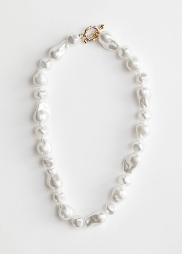 Organic Pearl Bead Necklace