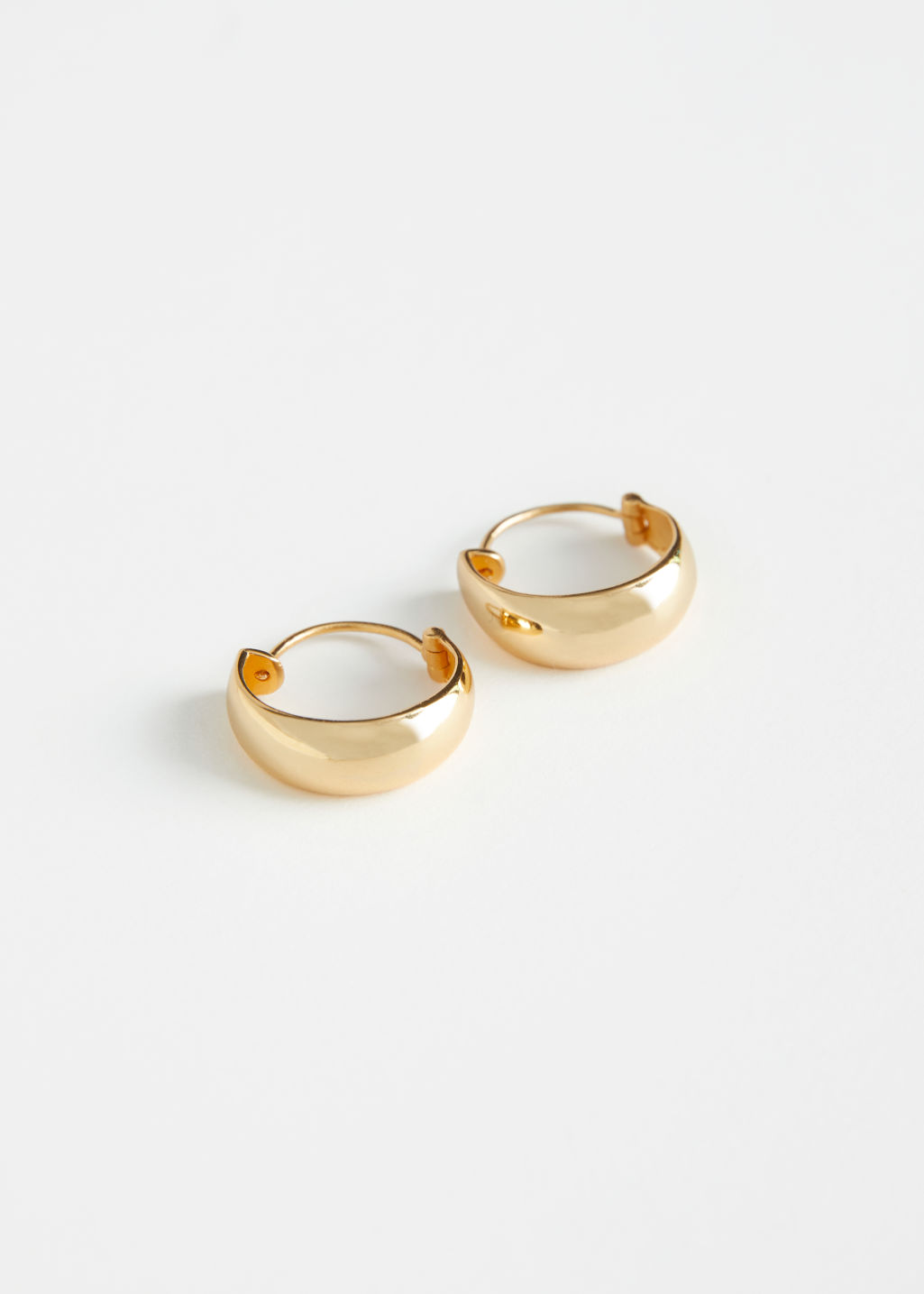 StillLife Front Image of Stories Delicate Half Hoop Earrings in Gold